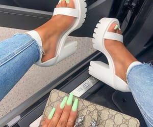 nails, heels, and shoes image