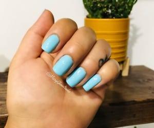 blue, nail, and opi image