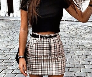 belt, outfit, and black image