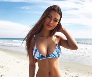 beach, bikini, and sun image
