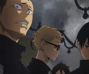 anime, tanaka, and tsukishima image