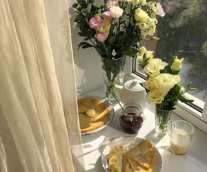 aesthetics, breakfast, and flowers image