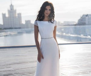 bride, dress, and chic image