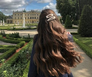 girl, pretty, and long hair image