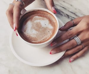 coffee, jewelry, and nails image