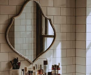 mirror, bathroom, and home image