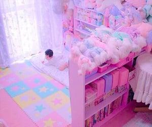 pink, unicorns, and baby girl rooms image