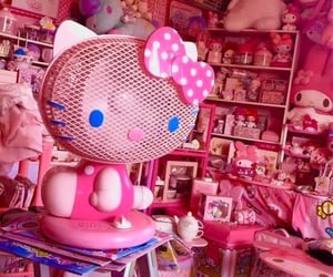 hello kitty, pink rooms, and playroom image