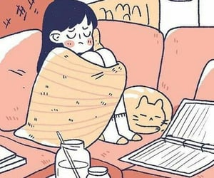 illustration, cat, and cute image