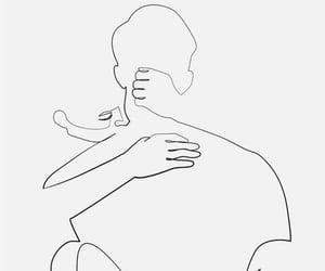 art, body, and couple image