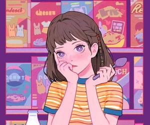 cute, girl, and anime image
