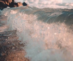 waves, sea, and aesthetic image