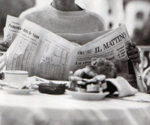 black and white, newspaper, and vintage image