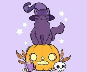 cat, witch, and witchcraft image
