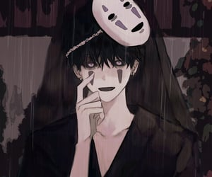 handsome, no face, and anime boy image