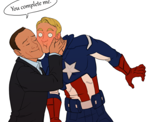 captain america, agent coulson, and cute image