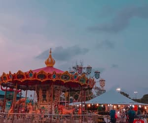 carousel and funfair image