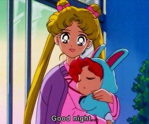 anime, cartoon, and good night image