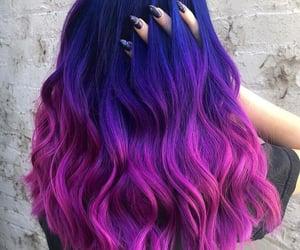 blue hair, colored hair, and hair image