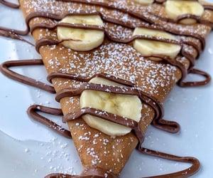 banana, chocolat, and crepe image