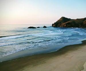beach, camp, and ocean image