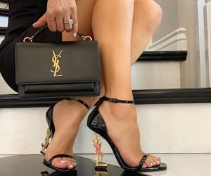 high heels, YSL, and ysl shoes image