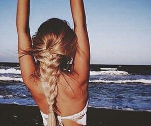 beach, salt, and girl image