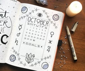 art, october, and planner image