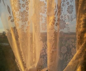 aesthetic, curtains, and sun image