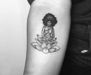 art, lotus flower, and tattoo image