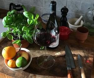 food, lemon, and wine image