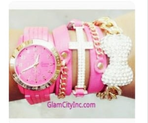 accessories, jewelry, and pinkbracelets image