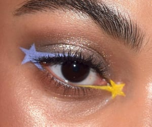 eyebrows, makeup, and stars image