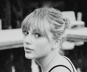 Taylor Swift, black and white, and lover image