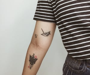 girl tattoo, tattoo, and bts tattoo image