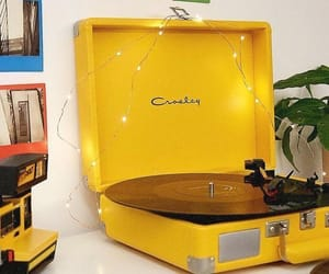 yellow, aesthetic, and music image