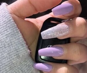 nails, purple, and acrylic image