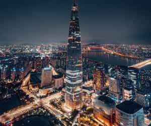 city, nights, and seoul image