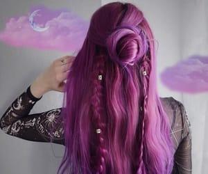 haircolor, purplehair, and hairdye image
