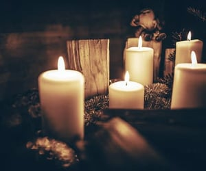 candles, comfort, and escape image