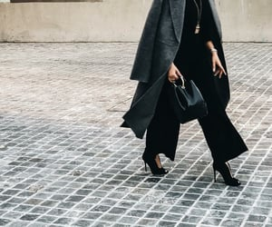 autumn, black, and chic image