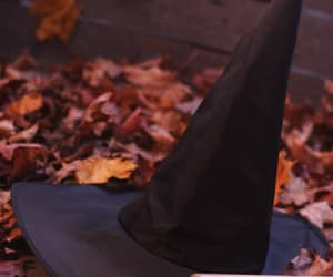 Halloween, witch, and autumn image