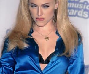 blonde, blue, and bra image