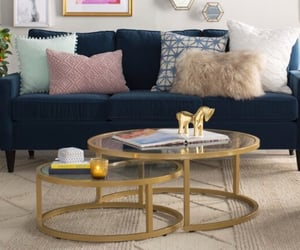 chic, colorful, and couch image