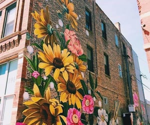 architecture, art, and flowers image