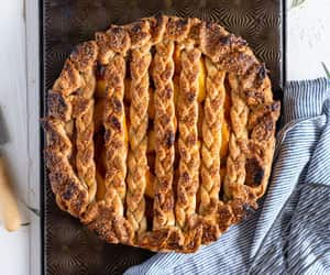 Peach and Vanilla Bean Pie with Fresh Rosemary Pie Crust  — Cloudy Kitchen