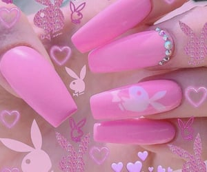 pink, alternative, and nails image