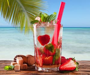 beach, drink, and mint image