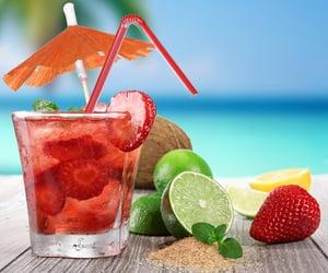 beach, drink, and lemon image