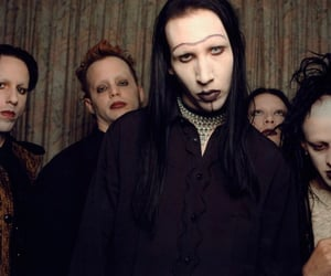 dark, goth, and Marilyn Manson image